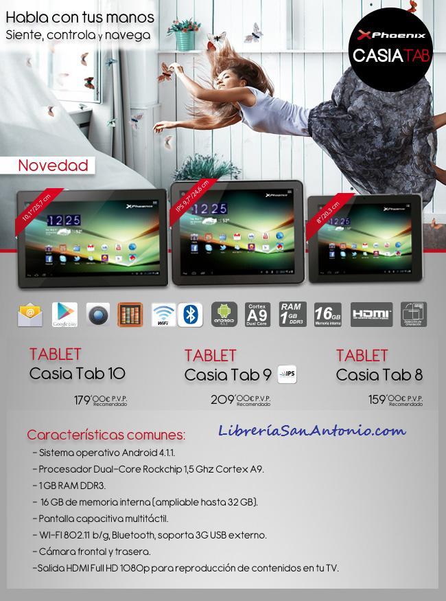 Tablet Phoenix Librería San Antonio.